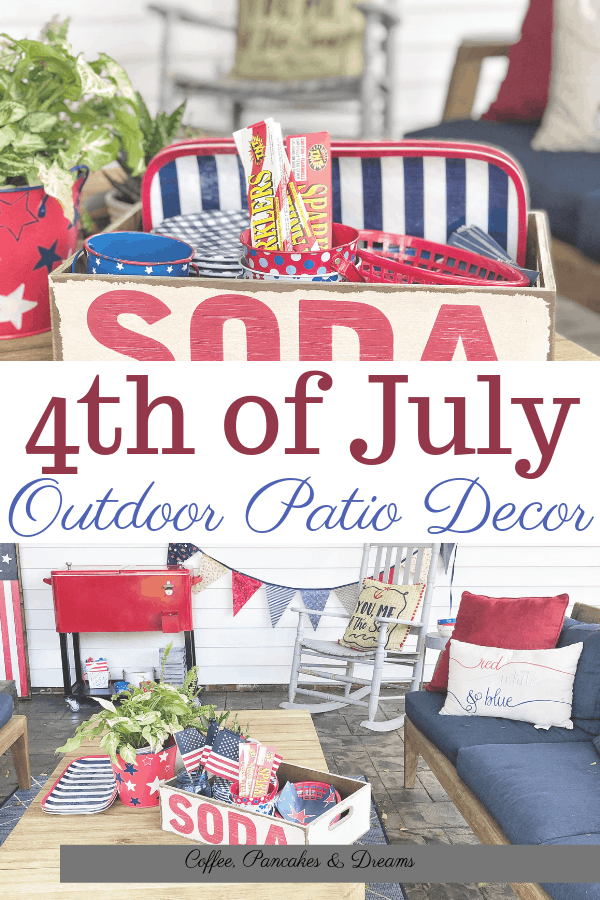 July 4th Outdoor Decor Ideas #redwhiteblue #entertaining #party #independanceday