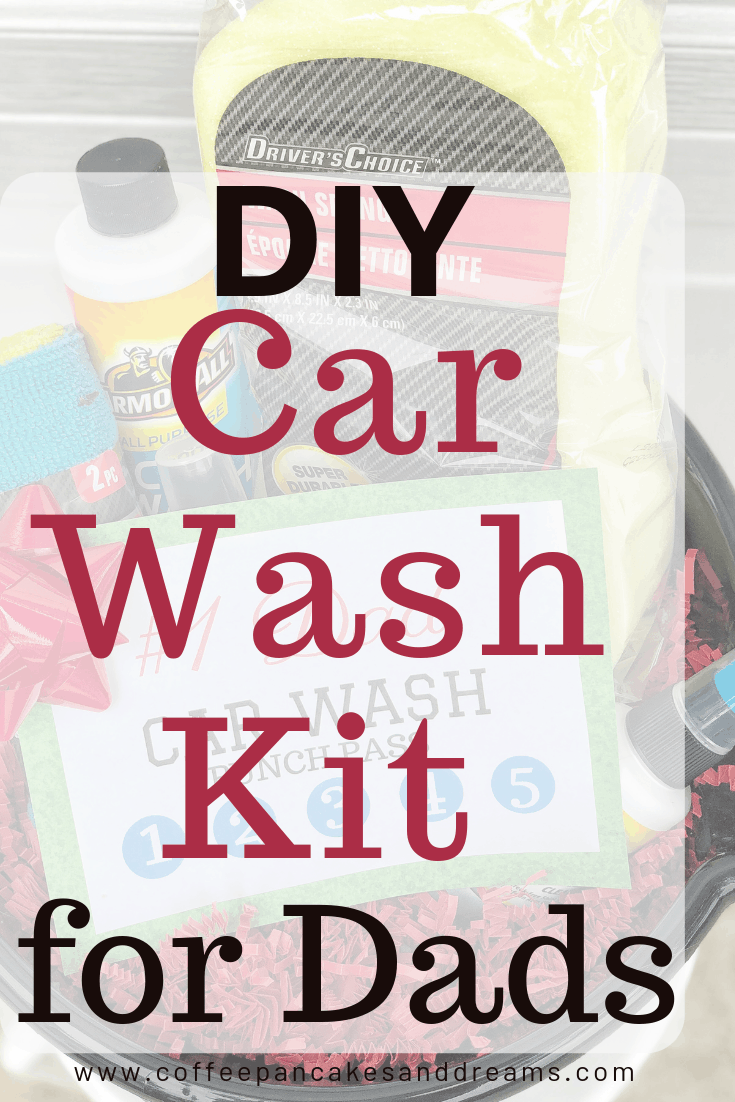 Car Wash Kit for Father's Day #diy #easy #inexpensive