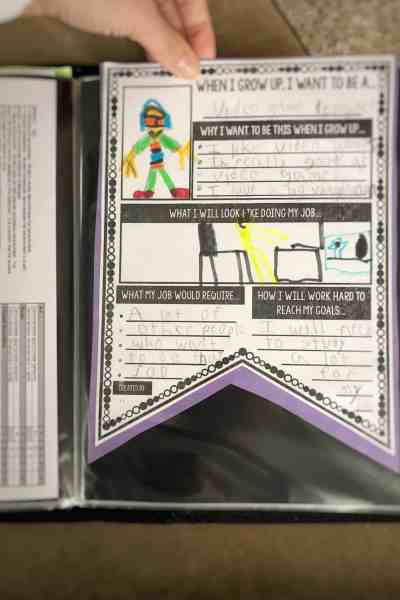 how to create a school memory portfolio #kids #organization #school
