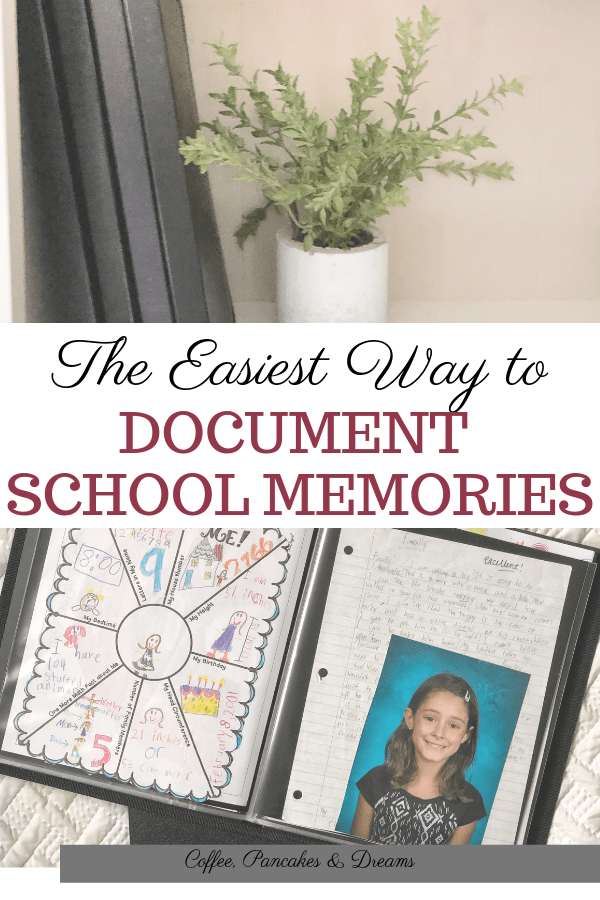 How to organize school papers and keepsakes #kids #backtoschool #organizationtips