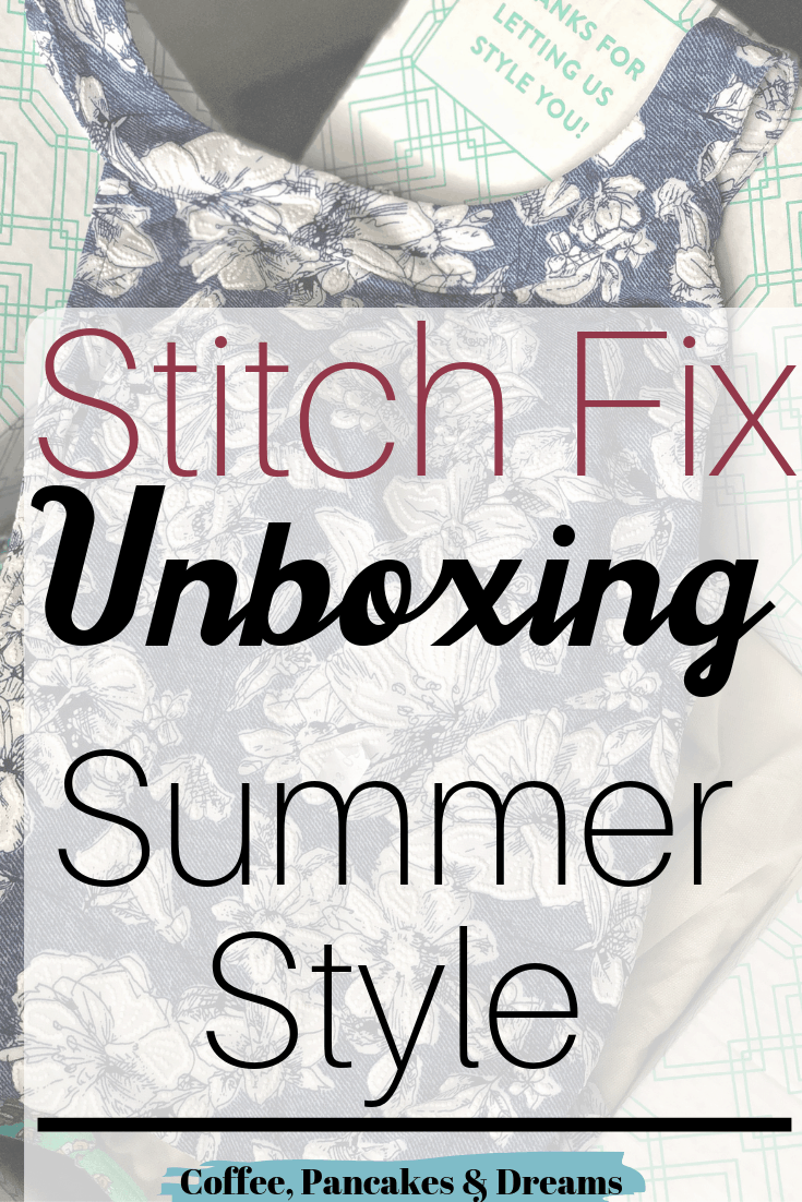 Stitch Fix Summer Box #review #style #tops #jeans #moms