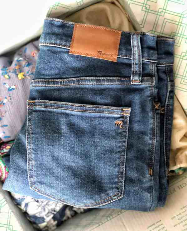 Stitch Fix Review 2019 #jeans #madewell #unboxing #style