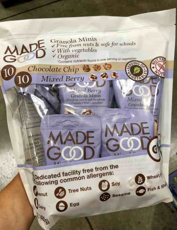 Nut free snacks at costco #kids #healthy #schoollunches