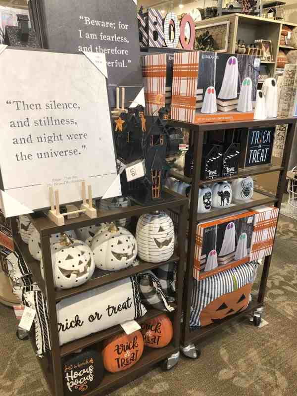 halloween decorations at Kirklands #falldecorating #notsospooky #signs #decor