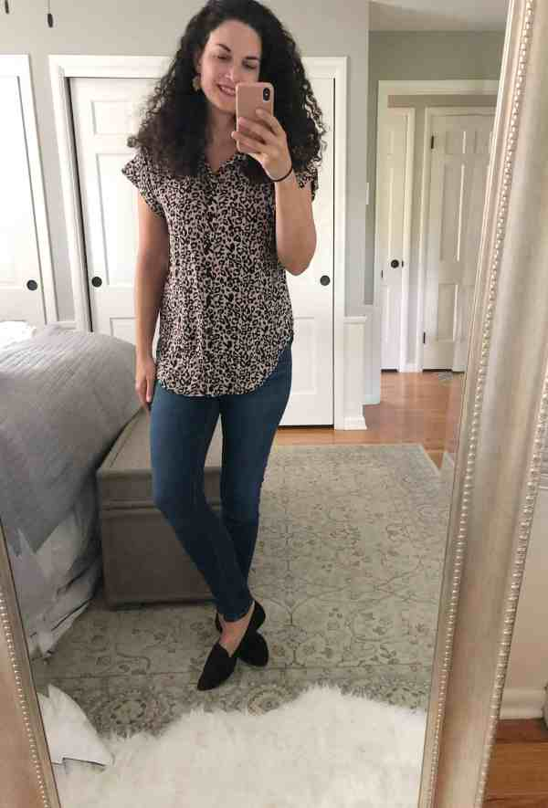 leopard print blouse from stitch fix