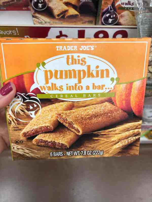 What to buy at Trader Joe's in the Fall #shoppinglist #printable #pumpkinspice
