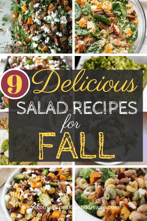 Easy salad recipes for fall #harvest #pasta #kale #butternutsquash #healthy #thanksgiving