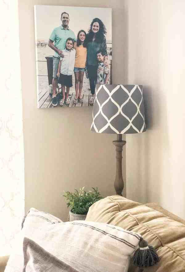 creative photo display ideas #sponsored #photocanvas #familyphotos