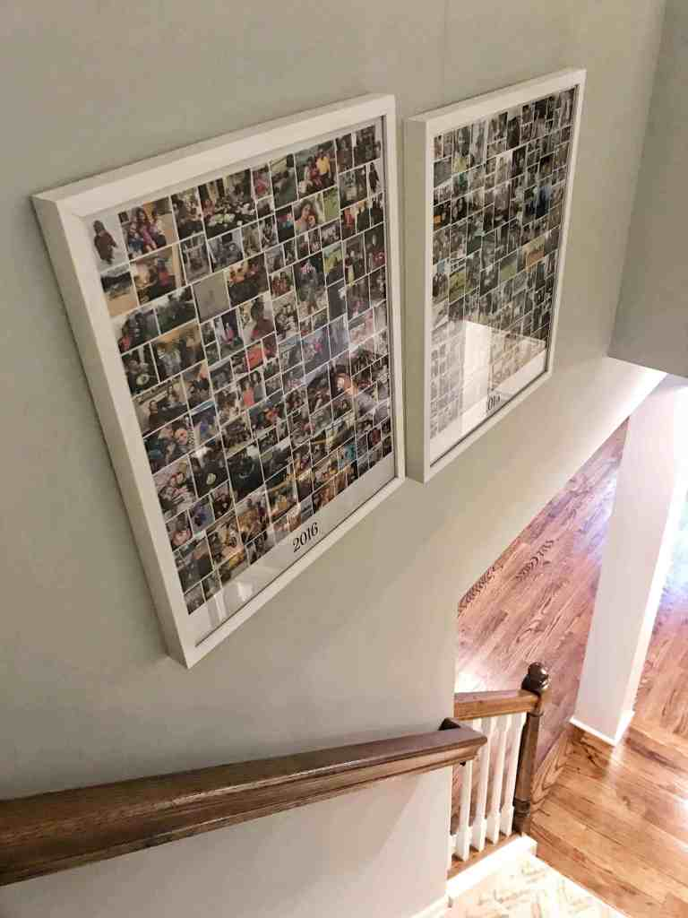 Creative photo display ideas #photocollages #digitalphotos #familypictures