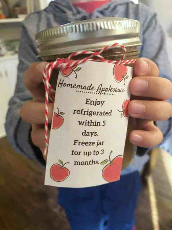 Printable Gifts for homemade applesauce