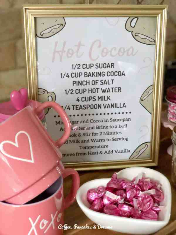Valentine's Day hot cocoa bar #decorations #kids #cute #inexpensive