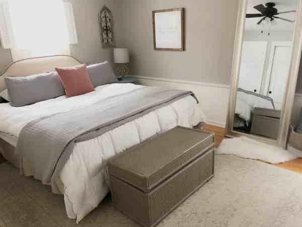 Small Master Bedroom Organization Ideas #storage #declutter #creative