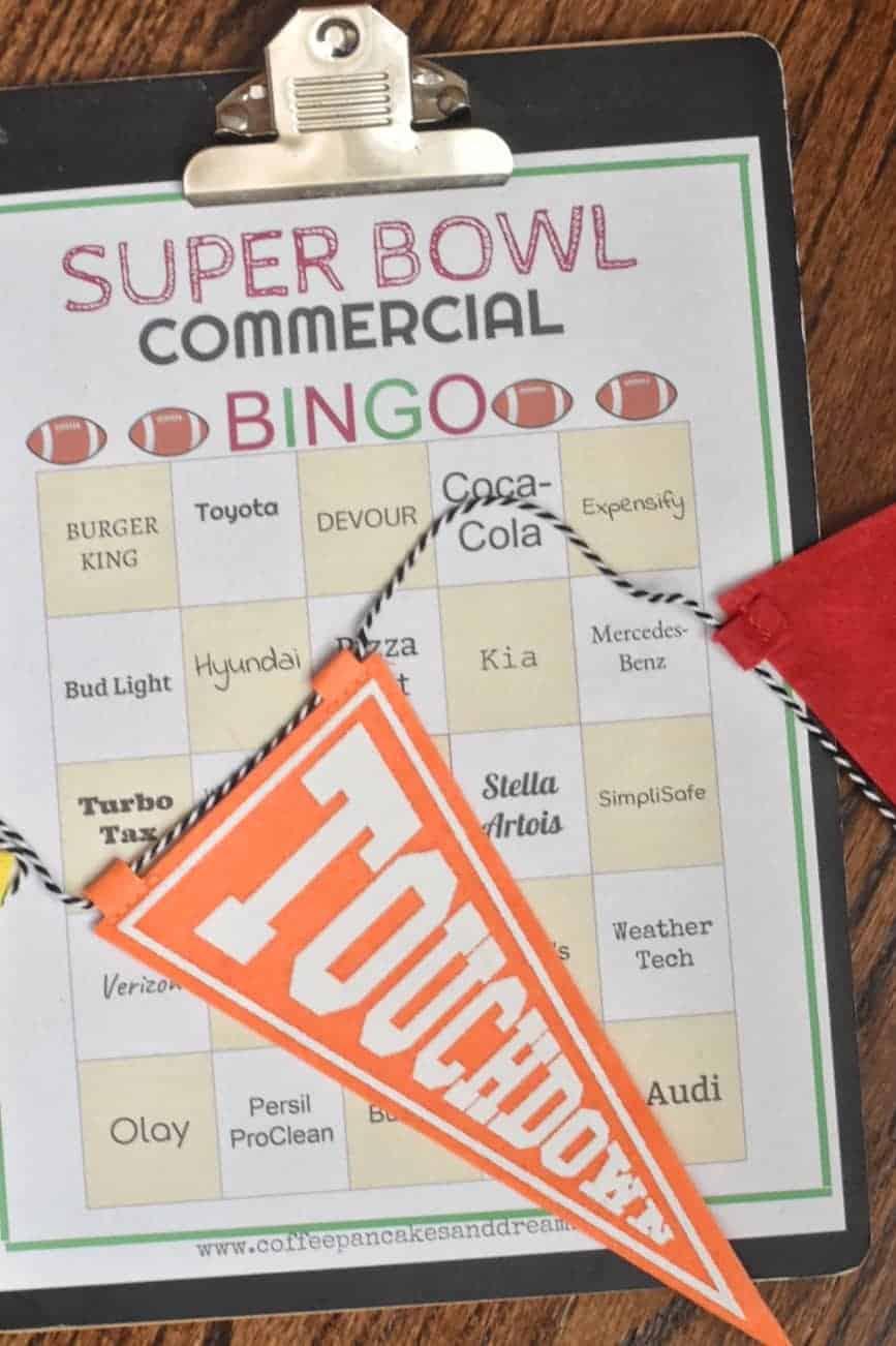 superbowl commercial bingo 2021 #printable #free #superbowl54