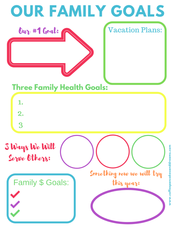 Family Goals Printable Worksheet