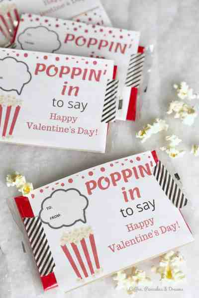 popcorn valentine's day cards printables