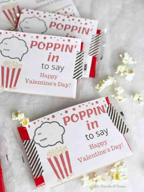 popcorn valentine's day cards printables