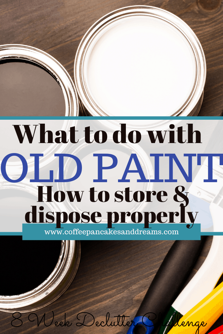 What to do with old paint cans #disposal #organization #storage