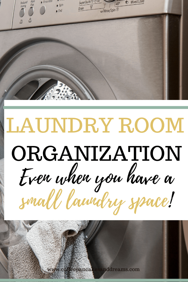 How to organize a small laundry room #checklist #declutter #hacks