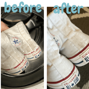 how to clean converse before and after