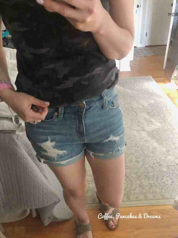 Inexpensive distressed shorts