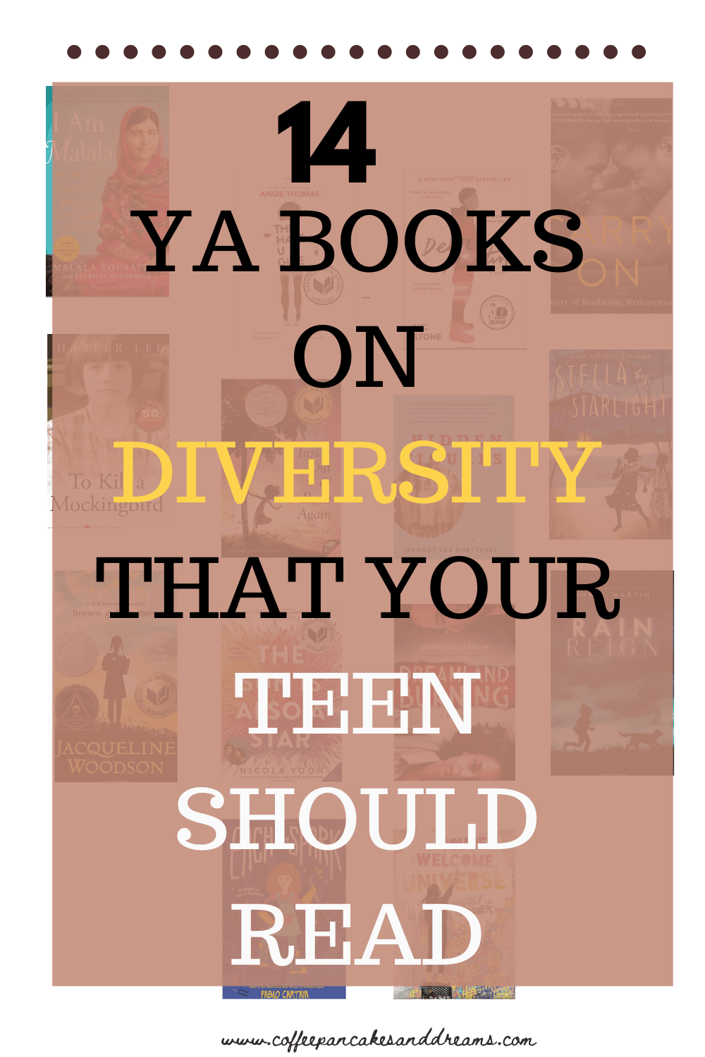 Young Adult Books on Diversity #ya #middleschool #teenlit