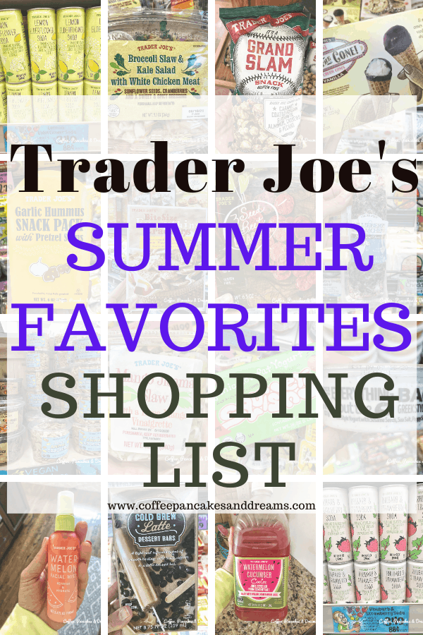 Trader Joe's Summer Shopping List Printable #lunch #kidfriendly #snacks #healthy