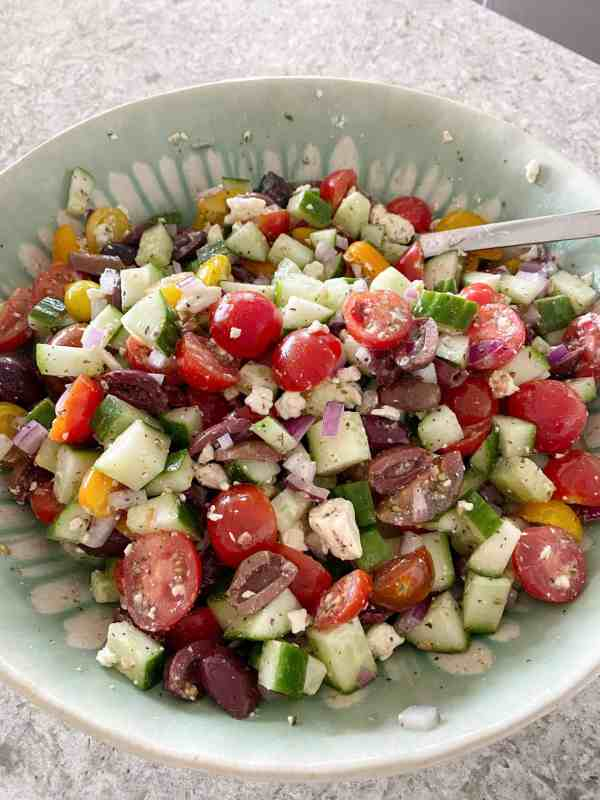Easy Greek Salad for summer