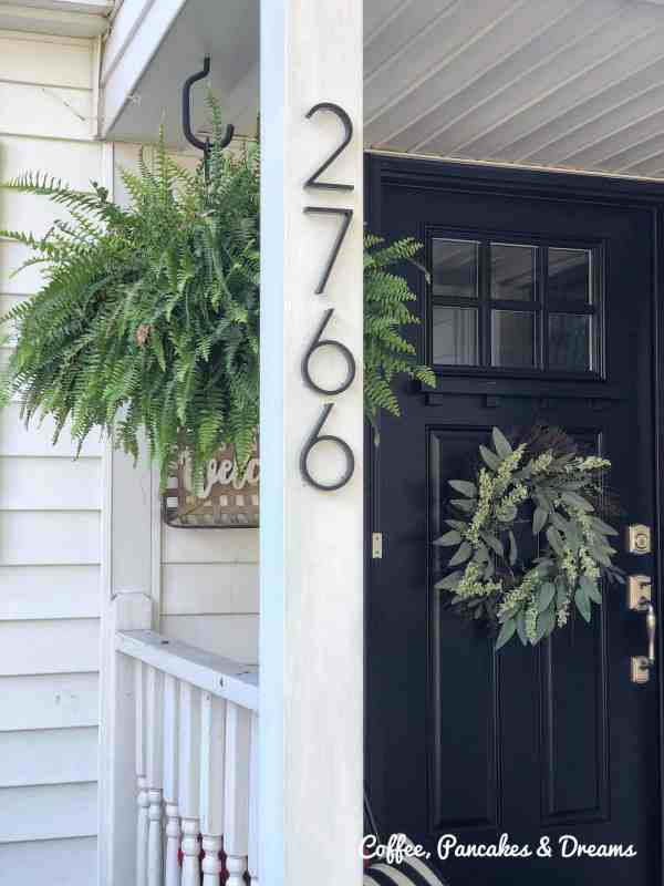 Installing Metal House Numbers to Front Door Area