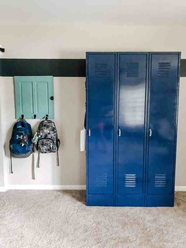 Boys shared bedroom lockers