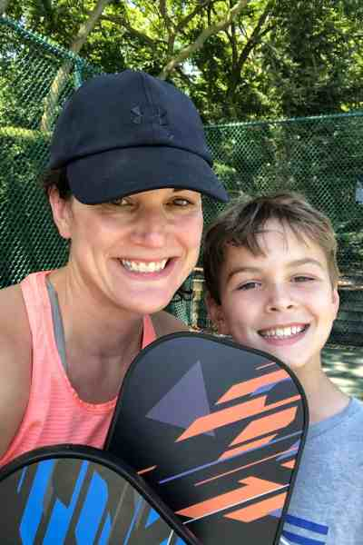 family pickle ball game