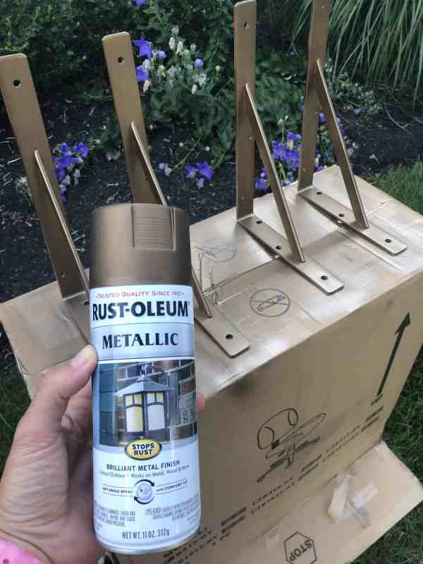 Rustoleum Antique Gold for Wall Brackets
