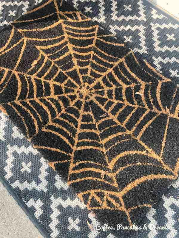 Halloween Door mat spider web