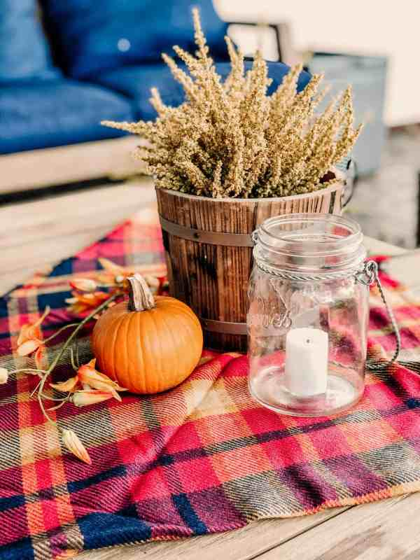 Fall Plaid Scarf Decor