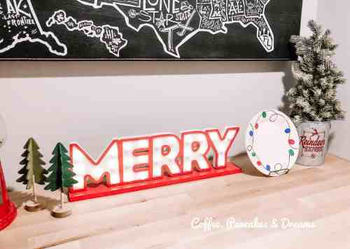 Fun and Bright Christmas Playroom Decor #whimsical #diy #colorful