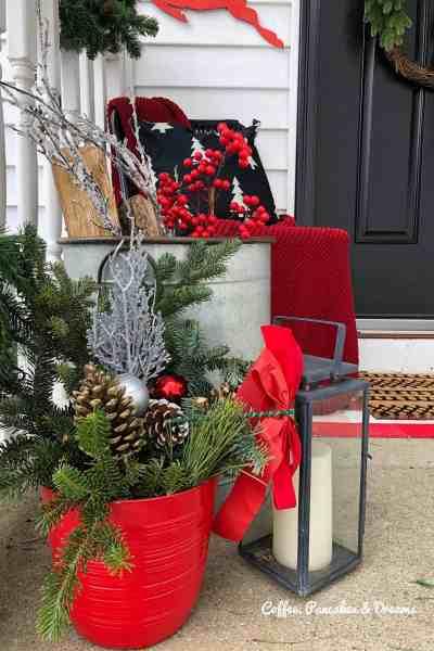 Modern Farmhouse Christmas front porch