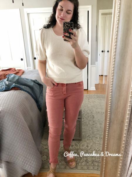 Spring Short Sleeve Puff Sweater