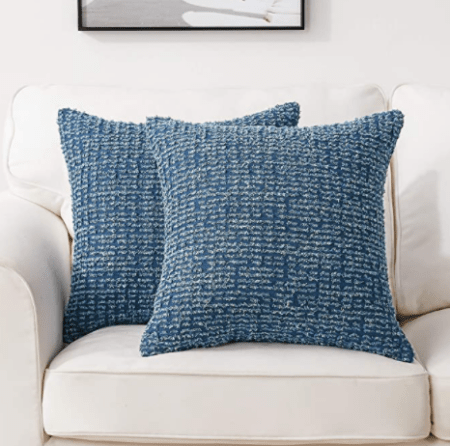 Light blue pillow covers