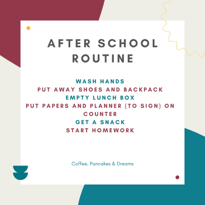 After School Routine Graphic