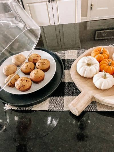Pumpkin Spice Muffins with Caramel Chips