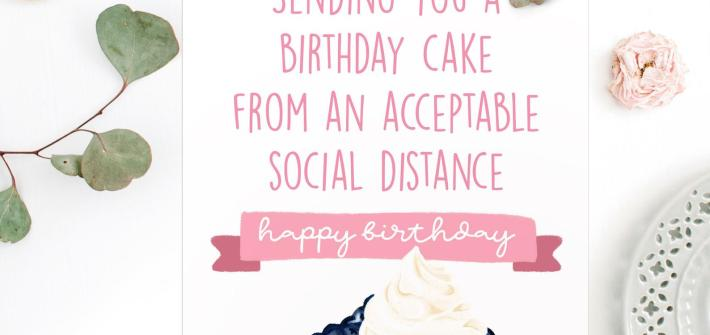 Social Distance Geburtstagskarte