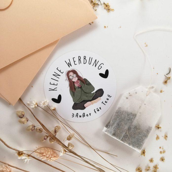 Briefkastenaufkleber für Teefreune