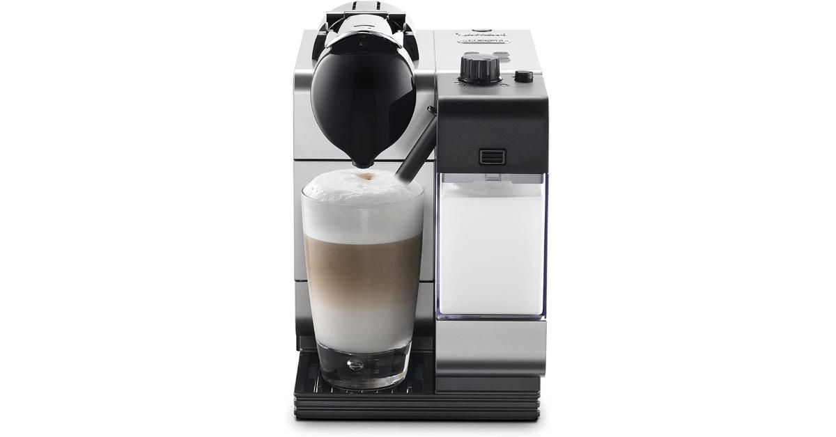 DeLonghi Silver Lattissima Plus Nespresso Coffee Machine