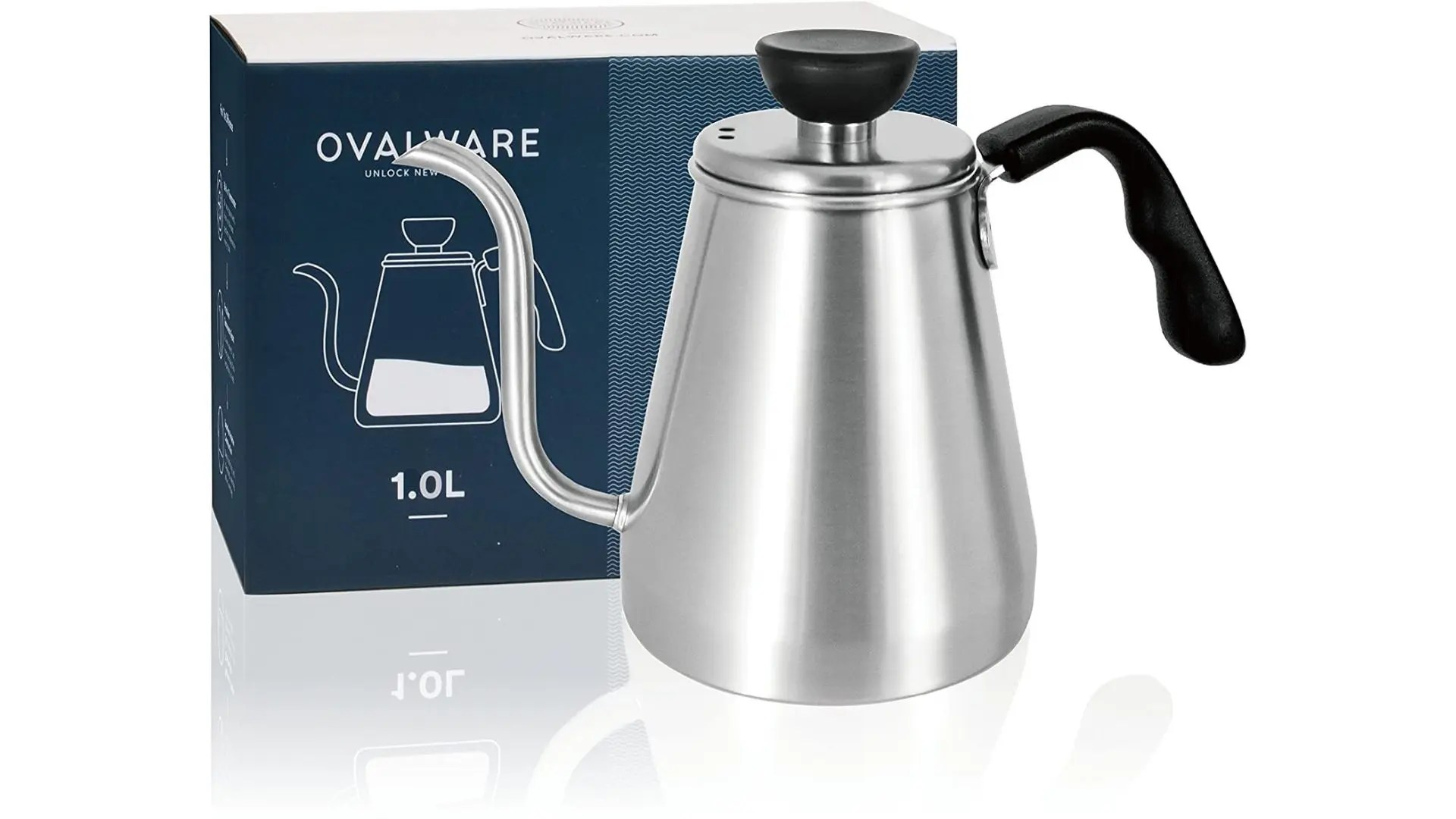 Ovalware RJ3 Stainless Steel Drip Kettle With Precision Gooseneck Spout