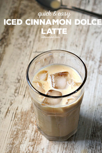 iced cinnamon dolce latte