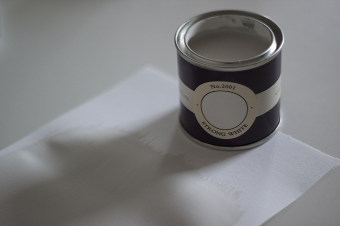 farrow and ball gray strong white