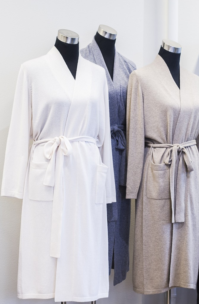 Balmuir cashmere robes showroom Helsinki Lauttasaari