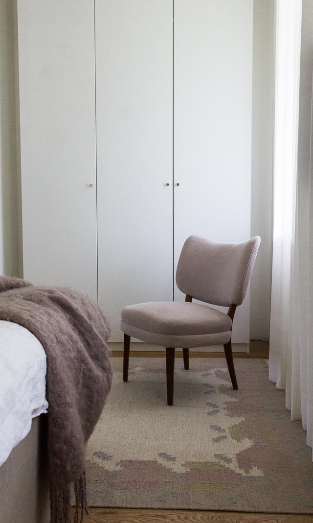 Tuolin verhoilu makuuhuoneen sisustus-3