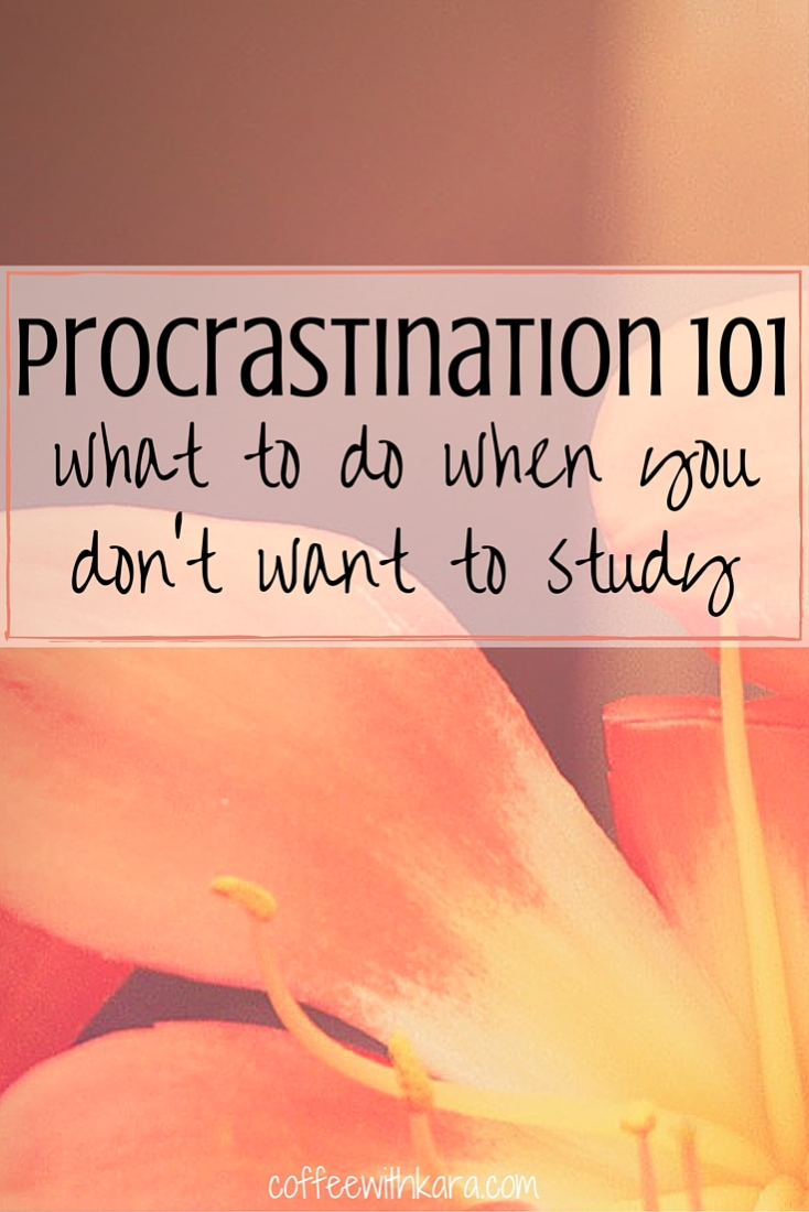 Got a big test (or two) coming up? Research paper to write? Homework to complete? Don't want to study? NO PROBLEM! Procrastination 101 here we come!