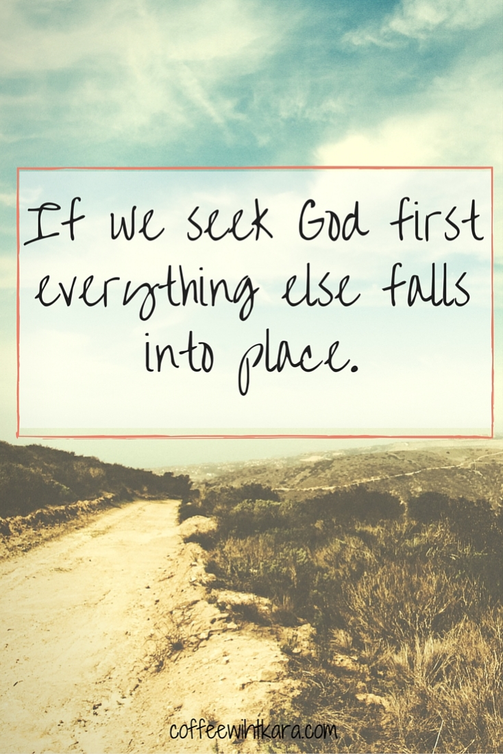 When we place God first in our lives, everything else falls into place. Including grades.