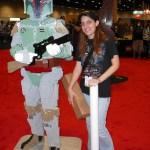 Caitlin with Lego Boba Fett
